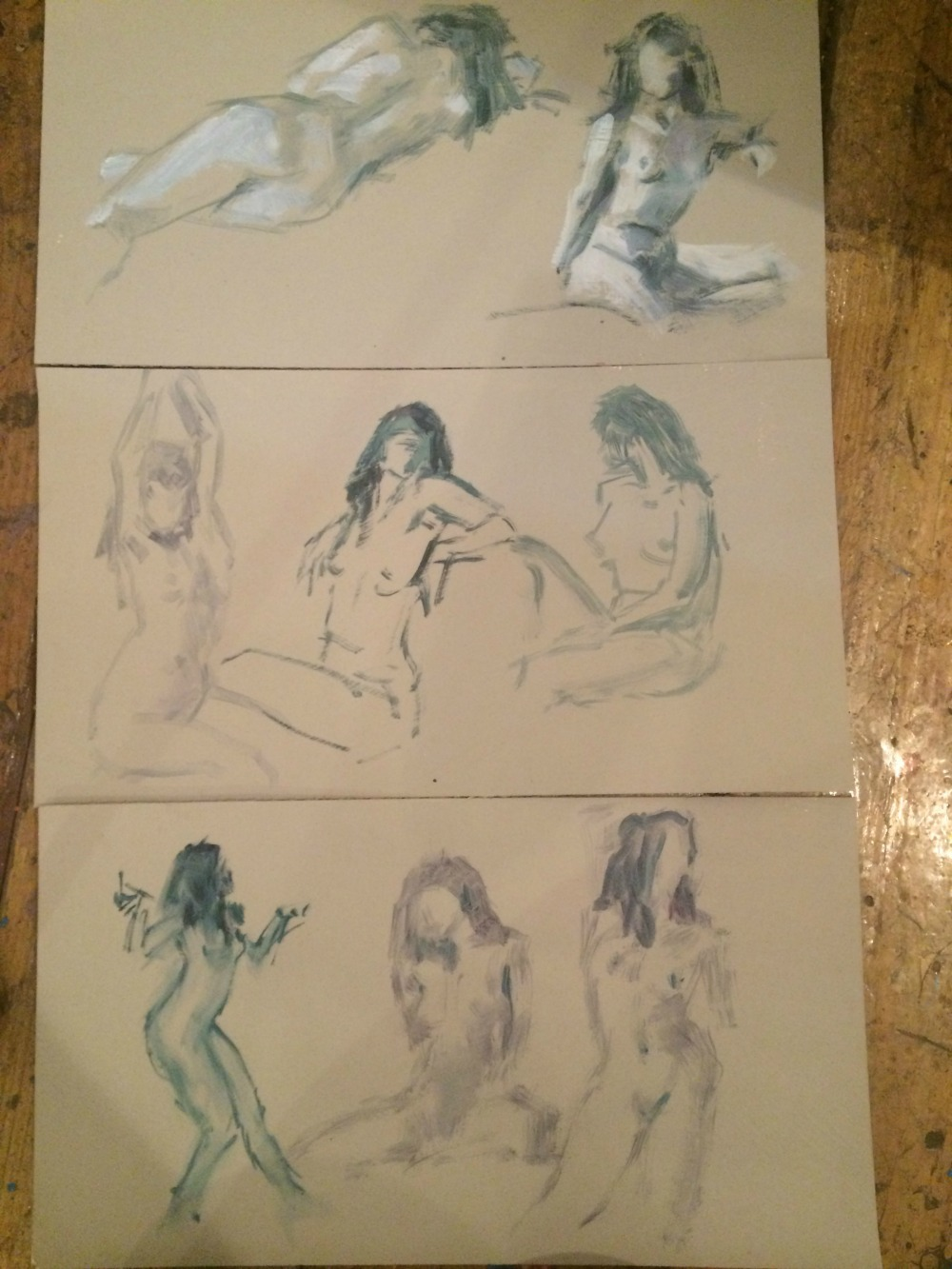an example of a freelance model gig is live art drawing model